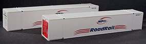 Con-Cor 53 Reefer Container NFI #2 (2) HO Scale Model Train Freight Car Load #488162