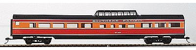 Con-Cor 85' Corrugated Budd Dome Southern Pacific ''Daylight'' -- HO Scale Model Passenger Car -- #78107