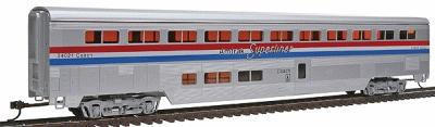 Con-Cor 85' Streamlined Superliner Amtrak Phase III Coach -- HO Scale Model Train Passenger Car -- #802