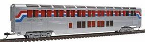 Con-Cor 85 Streamlined Superliner Amtrak Phase III Lounge/Cafe HO Scale Model Passenger Car #842