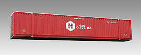 Con-Cor 53 Container Hubgroup Red HO Scale Model Train Freight Car Load #88029