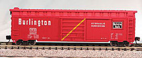 Con-Cor 50 Panel Boxcar Chicago, Burlington, & Quincy #1 N Scale Model Train Freight Car #8903