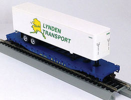 Con-Cor 54 Flatcar with Trailer ARR HO Scale Model Train Freight Car #9424
