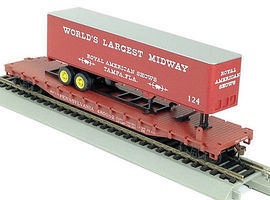 Con-Cor 54 Flatcar with Trailer Pennsylvania RR HO Scale Model Train Freight Car #9430