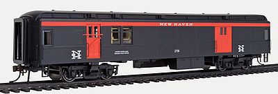 Con-Cor Heavyweight Baggage Mail NH #1 -- HO Scale Model Train Passenger Car -- #94329