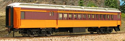 Con-Cor Heavyweight 65' Branchline Combine Milwaukee Road -- HO Scale Model Train Passenger Car -- #94358