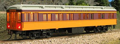 Con-Cor Heavyweight 65' Solarium-Observation Milwaukee Road -- HO Scale Model Train Passenger Car -- #94408