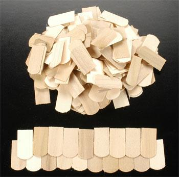 Corona Concepts Fishscale Birch Shingles (400) -- Wooden Doll House Kit -- #4701