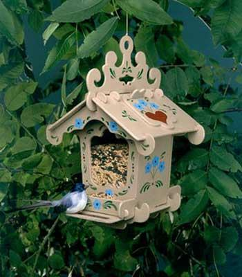 Corona Concepts Black Forest Bird Feeder -- Wooden Bird House Kit -- #7102