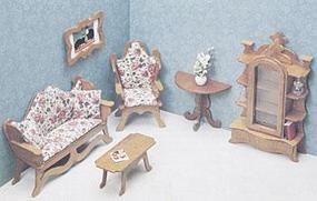 Corona Living Room Furniture Wooden Doll House Kit #7203