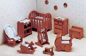Corona Concepts Nursery Furniture -- Wooden Doll House Kit -- #7207