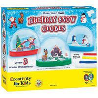 Creativity-for-Kids Make Your Own Holiday Snow Globes Activity Craft Kit #1846000