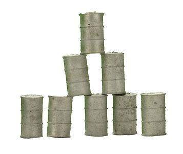 Custom Finishing 55 Gallon drums        8/ - HO-Scale (8)