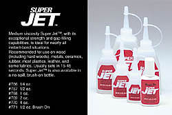 CARL Goldberg Models Super Jet adhesive    4oz
