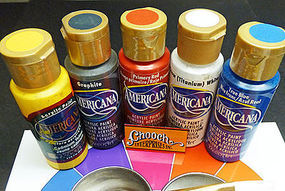 Chooch Rainbow First Coat Acrylic Paint 5-Color Set Each Color 2oz  59.1ml