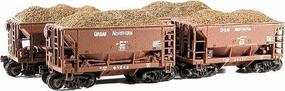 Chooch Iron Ore Fits Walthers 932-4400 Series Ore Cars (4) HO Scale Model Train Freigt Car Load #7212
