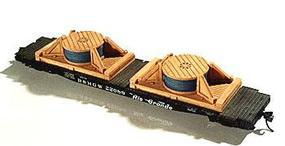 Chooch Light Cable Spool Load pkg(2) HO Scale Model Train Freight Car Load #7245