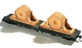 Chooch Heavy Cable Spool Load (2) HO Scale Model Train Freight Car Load #7246
