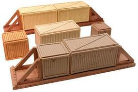 Chooch Medium Wood Sheathed CratesFor HO & O Scale Model Train Freight Car Loads #7266