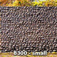 Chooch Random Stone Retaining Wall - Small N Scale Model Railroad Scenery Structure #8300