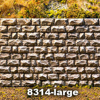 Chooch Cut Stone Retaining Wall Large O Scale Model Railroad Miscellaneous Scenery #8314