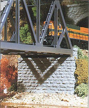 Chooch Enterprises DoubleTrack Cut Stone Bridge Abutment -- HO Scale Model Railroad Scenery -- #8450