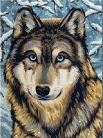Colart Wolf/Winter Scene Acrylic Paint by Number 9x12 (Replaces #12191)