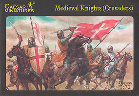 Caesar Medieval Knights (Crusaders) (24) Plastic Model Military Figure 1/72 Scale #17