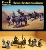 Caesar Pharaohs Chariot with 2 Horses & Biblical Peasants Plastic Model Military Figure 1/72 #42