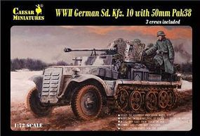 Caesar WWII German SdKfz 10 Halftrack Plastic Model Halftrack Kit 1/72 Scale #7209