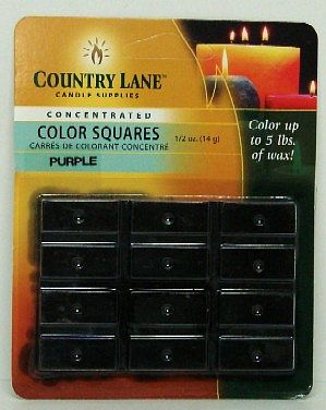 Candle Making Supplies Concentrated Color Square Purple 1/2oz. -- Candle Making Kit -- #90608