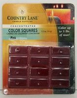 Candle-Making Concentrated Color Square Rose Pink 1/2oz. Candle Making Kit #90616