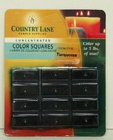 Candle-Making Concentrated Color Square Turquoise 1/2oz. Candle Making Kit #90617