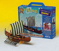 Constructo Junior Drakkar Viking Sailing Ship w/solid wood hull (Beginner)