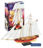 Constructo 1/88 Dominica 3-Masted Sailing Ship w/painted plastic hull (Intermediate)