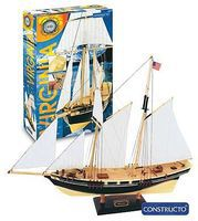 Constructo 1/80 Virginia Double-Masted American Schooner Ship w/painted plastic hull (Intermediate)