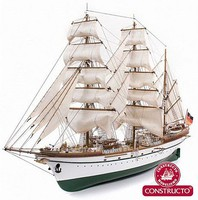 Constructo 1/187 Gorch Fock 3-Masted German 1958 Training Ship w/painted plastic hull (Intermediate)