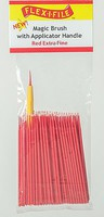 Creations Magic Brush Bulk Pack Red Extra Fine, 100 Pack