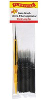 Creations Long Tip Nano Brush Bulk Pack Black, Contains 100 Nano Brushes & 1 Applicator Handle