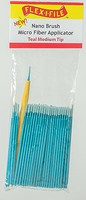Creations Nano Brush Bulk Pack Teal Medium Tip, 100-Pack