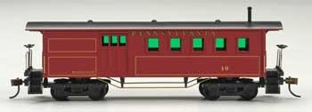 Mantua by Model Power 1860 Wooden-Type Combine Pennsylvania -- HO Scale Model Train Passenger Car -- #718520
