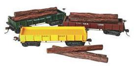 Mantua 1860 Log Car Wooden Vintage Freight Car PRR HO