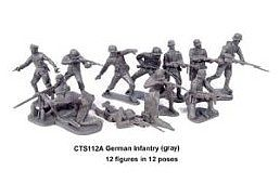 Classic Toy Soldiers WWII German Infantry (12) -- Plastic Model Military Figure -- 1/32 Scale -- #112