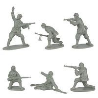Toy-Soldiers WWII Italian Infantry (12) Plastic Model Military Figure 1/32 Scale #135