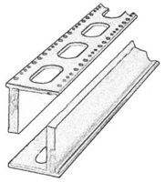 Central-Valley Bridge Box Girder Sections - Kit (Plastic) Standard 24 Punchplate 5 Sprues, 178 452.1cm Total & 58 147.3cm Seco - HO-Scale (5)