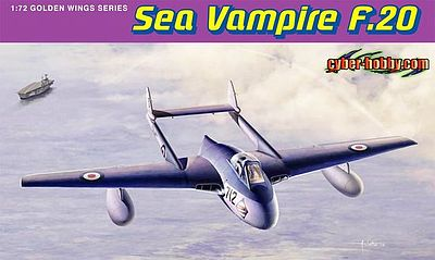 Cyber Hobby Sea Vampire F.20 -- Plastic Model Airplane Kit -- 1/72 Scale -- #5112