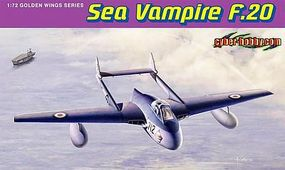 Cyber Sea Vampire F.20 Plastic Model Airplane Kit 1/72 Scale #5112