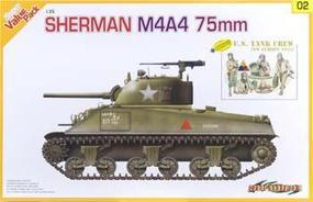Cyber Sherman M4A4 75mm Plastic Model Tank Kit 1/35 Scale #9102