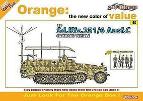 Cyber Sd.Kfz.256/6 Ausf.C 1-35 Plastic Model Military Vehicle Kit 1/35 Scale #9150