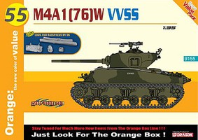 Cyber M4A1 (76)W VVSS Plastic Model Military Vehicle Kit 1/35 Scale #9155